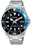SEIKO 精工 UK Limited – EU 男式模拟日本石英套潜水员手表不锈钢表链不锈钢表带 PG8293X1