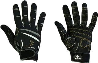 Bionic 官方手套 Marshawn Lynch 手套 Beast Mode 男士全指健身手套 w/自然贴合技术,黑色(一对)