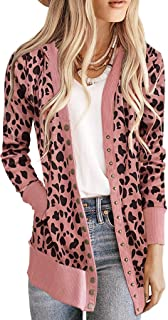 NENONA 女式 V 领系扣针织长袖柔软基本针织按扣开襟毛衣