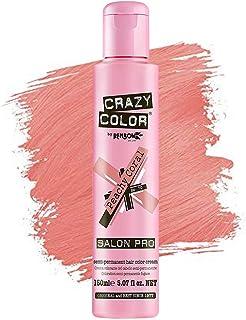 Crazy Color *剂 - 纯素和无残忍的半永久*剂 - 用于预亮或金发的临时* - 无需过氧化物或显影剂(桃珊瑚色)