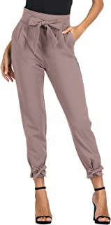 GRACE KARIN 女式七分纸袋腰裤带口袋