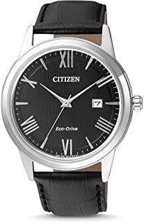 CITIZEN 西铁城 男式石英指针手表,皮革表带,AW1231-07E
