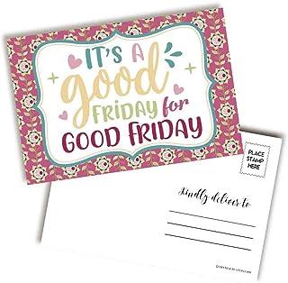 "Cute It's A Good Friday For Good Friday 宗教信仰主题空白明信片,可发送给朋友和家人,4""x6"" AmandaCreation 填写记事簿(20)"