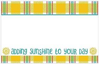 Sunshine 格子光泽卡片/礼品标签 - 8.5 x 6.5 厘米 - 50 张/包(1 件装)