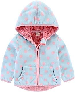 JanLEESi 幼童摇粒绒连帽衫夹克男婴女孩冬季保暖外套