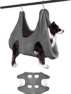 Ulobey 1 宠物*吊床助手器,猫狗*剪束缚袋,梳洗浴和*修剪用干毛巾,4 个挂钩,中号