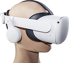 适用于 Oculus Quest 2 Elite 肩带的可调节 VR 游戏耳机,可360° 旋转,上下伸缩可调节立体声沉浸式耳机,适用于 Oculus Quest 2。不适合原始软带