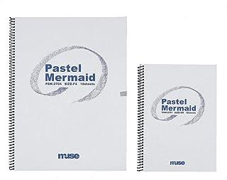 Muse 粉彩纸 粉彩手工书 SM 186g 丝绸、灰色6、银鼠、草空、古染、水雾、黑 18张装 PSM-2701 SM