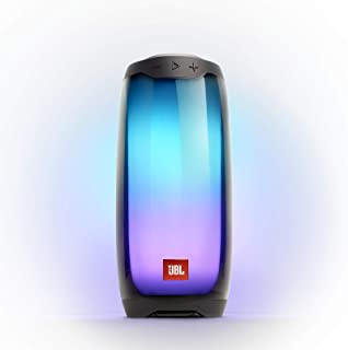 JBL PULSE 4 Bluetooth音箱 USB C充电/IPX7防水/搭载彩色LED/便携式 黑色 JBLPULSE4BLK