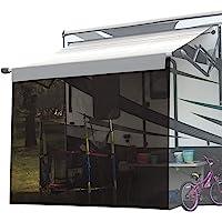 Shadeidea RV 遮阳篷遮阳篷 - 15.24 厘米 X 20.36 厘米棕色网眼遮阳棚 房车露营拖车 UV 遮…