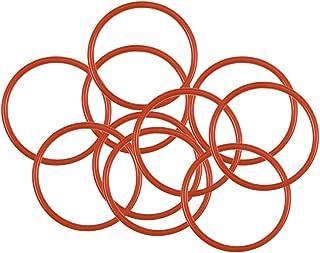 uxcell 硅胶 O 形环,24 毫米外径,21 毫米内径,1.5 毫米宽,VMQ 密封环垫圈,红色,10 件装