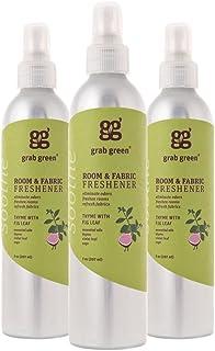 Grab Green Natural Room & 织物清新剂,不含邻苯二甲酸盐,无花果叶,7 盎司瓶装(3 件装)