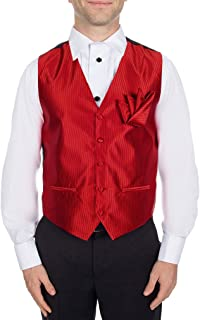 Buy Your Ties Men's Formal Vest and Hanky Set For Tuxedo and Suit - Many Colors Available