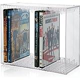 可叠放透明塑料 DVD 支架 – holds 14 STANDARD DVD Cases