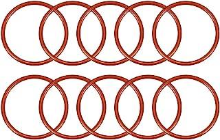 uxcell 硅胶 O 形圈,外径35毫米,内径30.2毫米,宽2.4毫米,VMQ密封圈,红色,10件