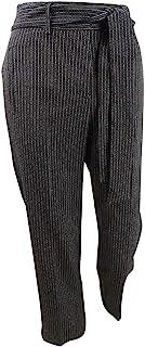 Bar III 女式加大码条纹腰带裤