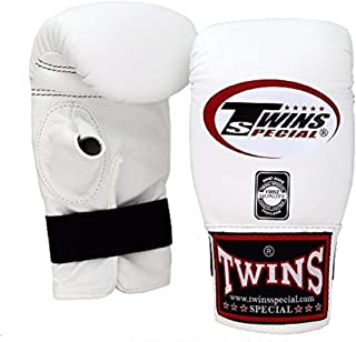 Twins Special Muay 泰拳训练包手套 TBGL 1F 全拇指和 TBGL 1H 半拇指尺寸:中号 大号 黑色 蓝色 红色 白色 黄色 橙色 * 包拳击手套 适用于泰拳 MMA K1