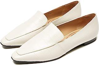 Plum Queen 女式乐福鞋平底鳄鱼一脚蹬驾驶乐福鞋适合工作派对