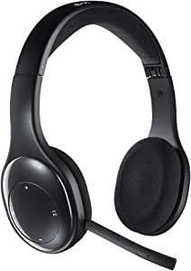 罗技 耳机 电脑用 H800r 立体声 USB 接收器经由无线 / Bluetooth 连接 充电式 降噪麦克风 搭载麦克风 折叠式 工作 远程工作 网络会议