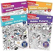 Highlights Hidden Pictures 2021 4 本书套装