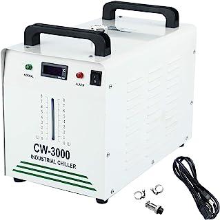 Homend 110V 水冷机工业水冷机,9L 容量 CW-3000 热解型工业水冷冷却器,适用于 60W 80W 激光雕刻机