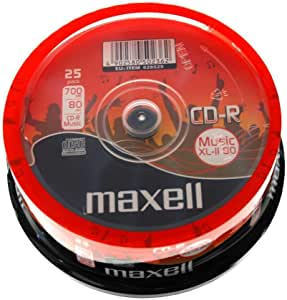 25 Maxell CD-R 700MB MUSIC XL-II 80 烤蛋糕