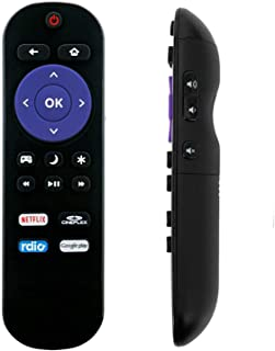 ECONTROLLY 替换遥控器 适用于 Insignia Roku TV NS-32DR420NA16 NS-55DR420NA16 NS-39DR510NA17 NS-40DR420NA16 NS-48DR420NA16 NS-48DR42...