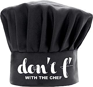 男士女士厨师帽趣味黑色,Don't F with The Chef 烹饪帽可调节厨房厨师帽生日父亲节圣诞节礼物