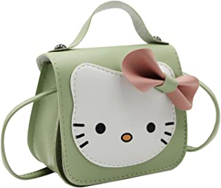幼儿儿童钱包可爱卡通蝴蝶结猫斜挎包小女孩小号皮革单肩包手提包