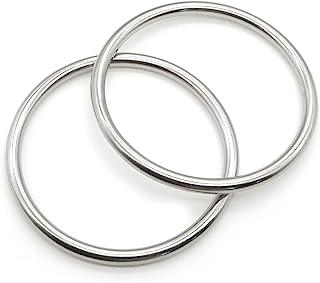 304 不锈钢 O 形环重型焊接圆形戒指,适用于露营腰带、吊床硬件(2,8 毫米 x 100 毫米内径)
