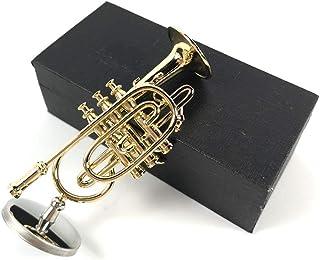 LS 迷你巴松管模型西方乐器微型模型装饰音乐装饰礼品(3.5 英寸Cornet)