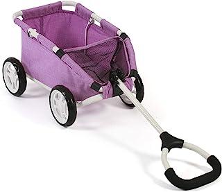 Bayer Chic 2000 660 35 拖车,小型拖车,适用于泰迪熊和玩偶,混色紫色