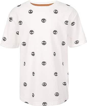 Timberland 添柏岚 男孩短袖弧形下摆圆领 T 恤