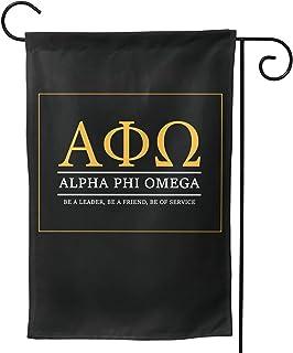 HSBHSJ Alpha Phi Alpha 旗帜双面垂直派对横幅旗帜露台草坪家居户外装饰 30.48 x 45.72 厘米