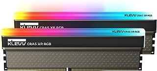 Essencore Aqureve KLEVV 台式电脑用 游戏内存 PC4-28800 DDR4 3600MHz 16GB x 2 块 CRAS XR 系列 SK hynix制造 采用内存芯片 KD4AGU880-36A180Z