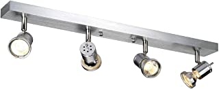 SLV LED 射灯 ASTO 可旋转和可旋转的智能墙壁和天花板灯 用于个人室内照明天花板聚光灯,天花板灯,天花板灯,墙壁灯 GU10,EEK 至 A++