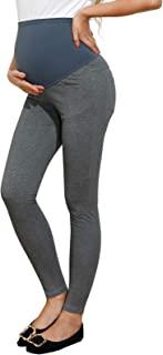 Maacie 女式孕妇打底裤过腹部基本弹力全长打底裤