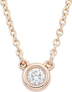 TIFFANY蒂芙尼 钻石 0.03克拉 18KRG Elsa Peretti系列 Diamonds by the Yard吊坠 项链 28334192