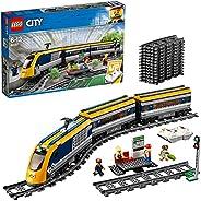LEGO 乐高 60197 城市乘客火车套装,电池驱动引擎, RC 蓝牙连接 轨道和配件