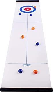 PJS1 桌面卷发家庭棋盘游戏,适合儿童和成人,可紧凑存放,易于设置,享受完美的乐趣室内和室外洗牌游戏