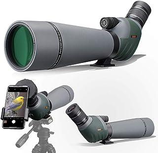 Gosky 20-60x80 双对焦 ED 瞄准镜 - 超高清光学瞄准器 带便携盒和智能手机适配器,适用于目标拍摄、狩猎、鸟、观赏野生动物天文学风景