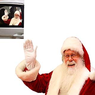 Toogod 圣诞老人汽车贴纸窗户贴花窗户吸附贴(左侧)