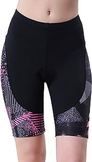 beroy 女式速干骑行内裤带3d 衬垫,胶垫自行车内裤和自行车短裤