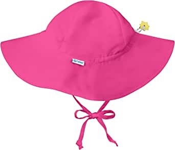 i play. Toddler Brim Sun Protection Hat, Hot Pink, 2T-4T