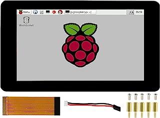 7 英寸(约 17.8 厘米)电容式触摸屏,适用于 Raspberry Pi 树莓 Pi 4B/3B+/3A+/3A+/3B/2B/B+/A+ 计算模块 4/3+/3,7 英寸(约 17.8 厘米)DSI LCD 800×480 像素,支持Ub...