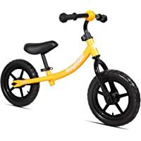 JOYSTAR 带低架的可调节平衡自行车,适用于1.5-5岁幼儿,训练自行车带儿童无气轮胎,12 英寸儿童自行车