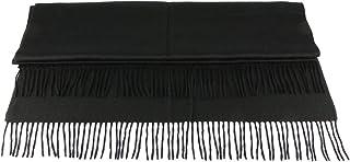 女式围巾,女式披肩围巾,女式围巾披肩,冬季/秋季保暖羊绒轻质时尚围巾,带流苏,黑色