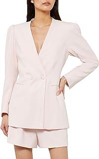 BCBGMAXAZRIA 女式双纽扣前夹克 Potpourri Small