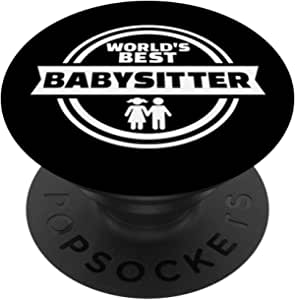 World's best babysitter PopSockets 手机和平板电脑抓握支架260027  黑色