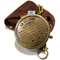 Nautical-Mart 黄铜指南针礼品送给我的儿子指南针、我的儿子、来自爸爸的儿子礼物、父亲儿子礼物、母子礼物、爱妈…